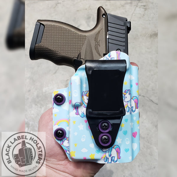 AIWB Rig, Appendix Inside the Waistband, IWB Inside The Waistband, Carry Holster for Light/Laser Equipped Pistols, AIWB or IWB, Crimson Trace, CTC, Sig Lima or Foxtrot, Streamlight TLR-6