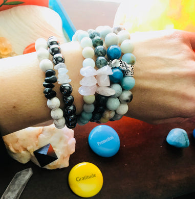 My Life© Bracelet Stack - individualized Intention & Energy-Charged Bracelet Stack