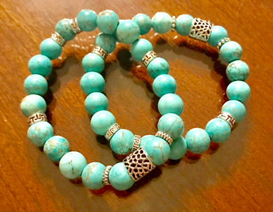 Natural Turquoise Energy Stack