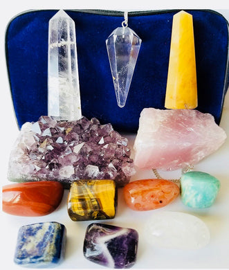 Intuitive Healing Crystal Kit - energy charged