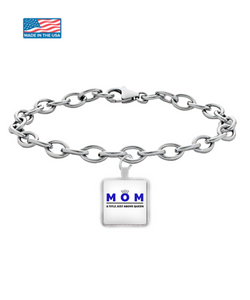Mom - A Title Above Queen Square Pendant Bracelet