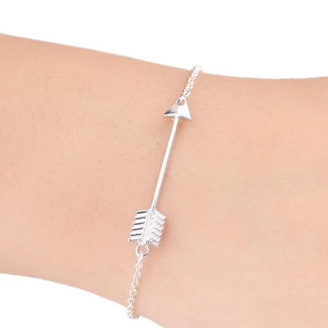 Fashion Big Arrow Charm Archers Bracelet in Gold & Silver Colors - SALE - Cach Best
