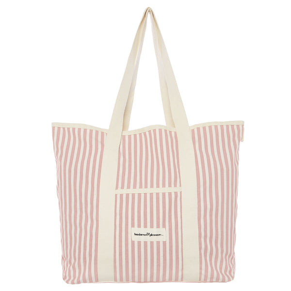 The Beach Bag - Lauren's Pink Stripe - Business & Pleasure Co