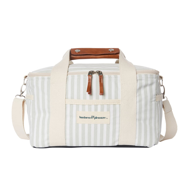 The Premium Cooler Bag - Lauren's Sage Stripe - Business & Pleasure Co