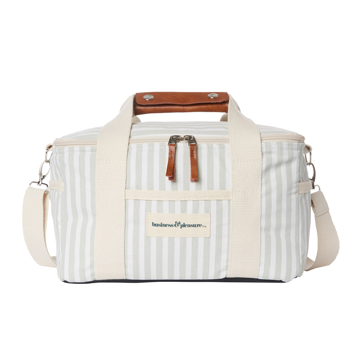 Lauren's Sage Stripe Premium Cooler Bag - Business & Pleasure Co