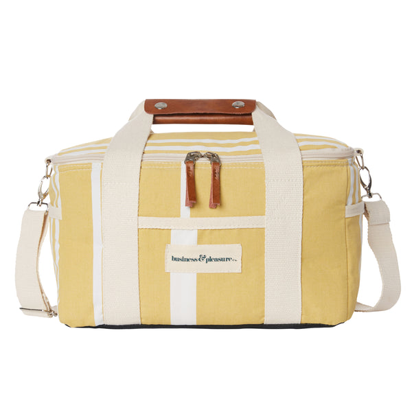 The Premium Cooler Bag - Vintage Yellow Stripe - Business & Pleasure Co
