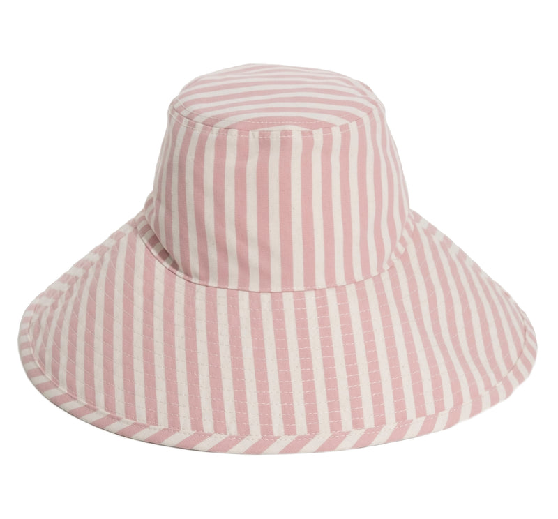 THE WIDE BRIM HAT - LAURENS PINK STRIPE