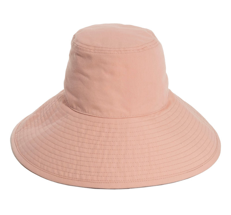THE WIDE BRIM HAT - DUSTY PINK