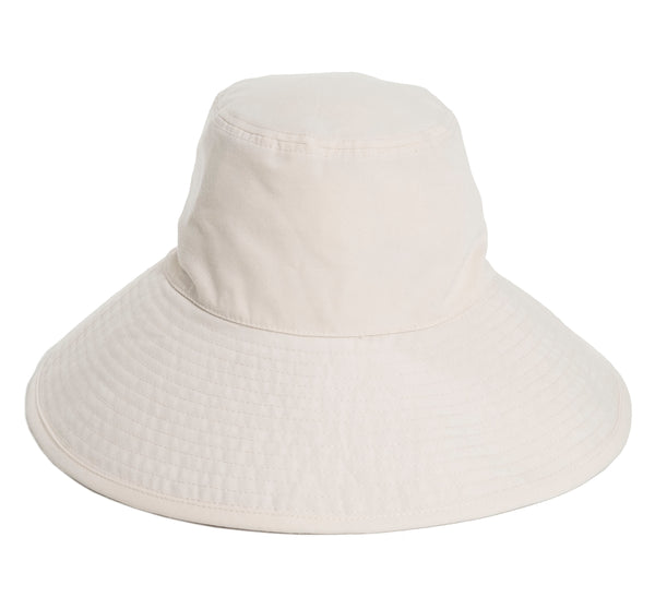 THE WIDE BRIM HAT - ANTIQUE WHITE