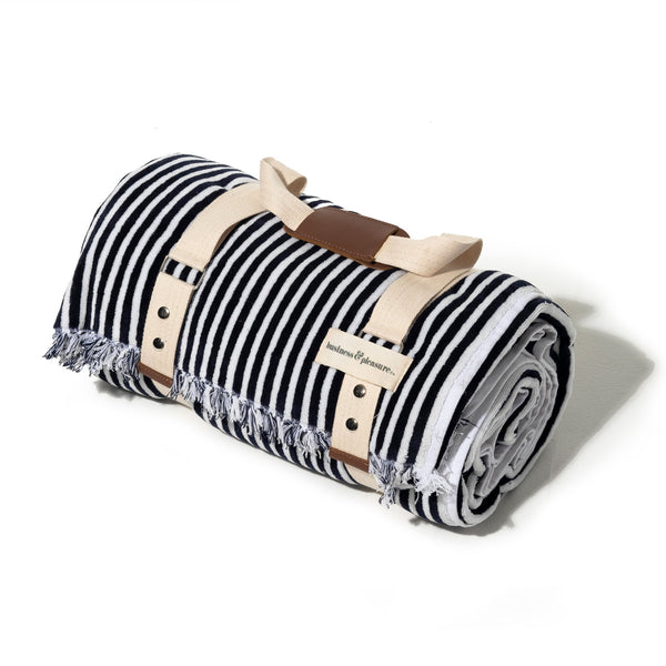 The Beach Blanket - Lauren's Navy Stripe