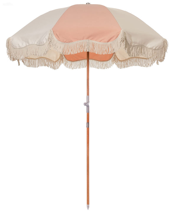 The Premium Beach Umbrella - 70's Panel Pink