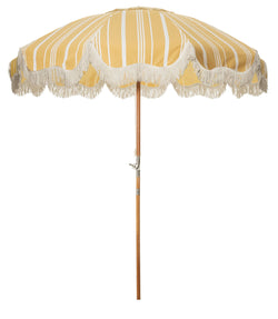 The Patio Umbrella - Vintage Yellow Stripe - Business & Pleasure Co
