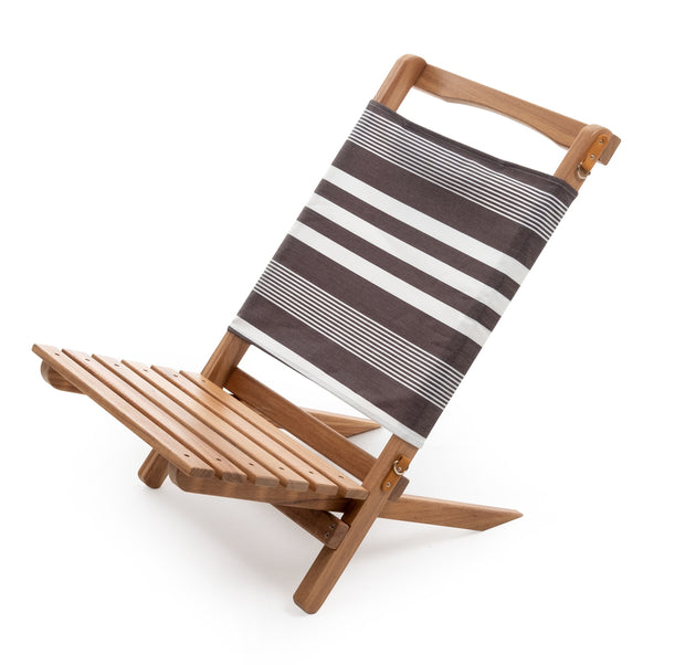 The 2-Piece Chair - Black Riviera Stripe - Business & Pleasure Co