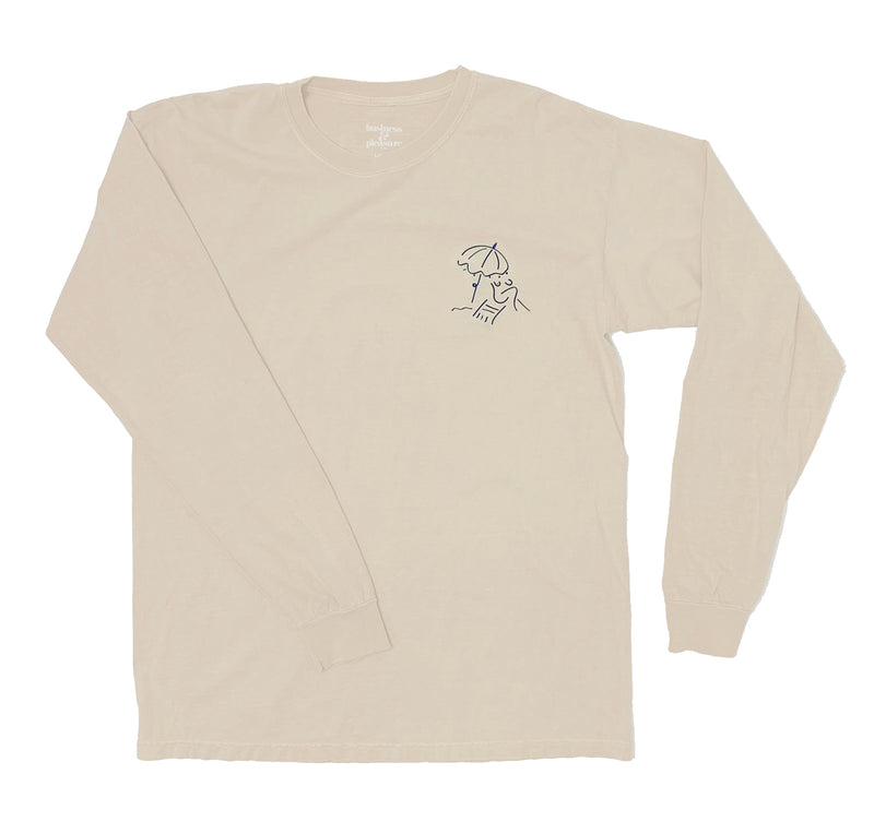 The Basque Long Sleeve Tee - Antique White - Business & Pleasure Co