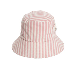 THE BUCKET HAT - LAURENS PINK STRIPE