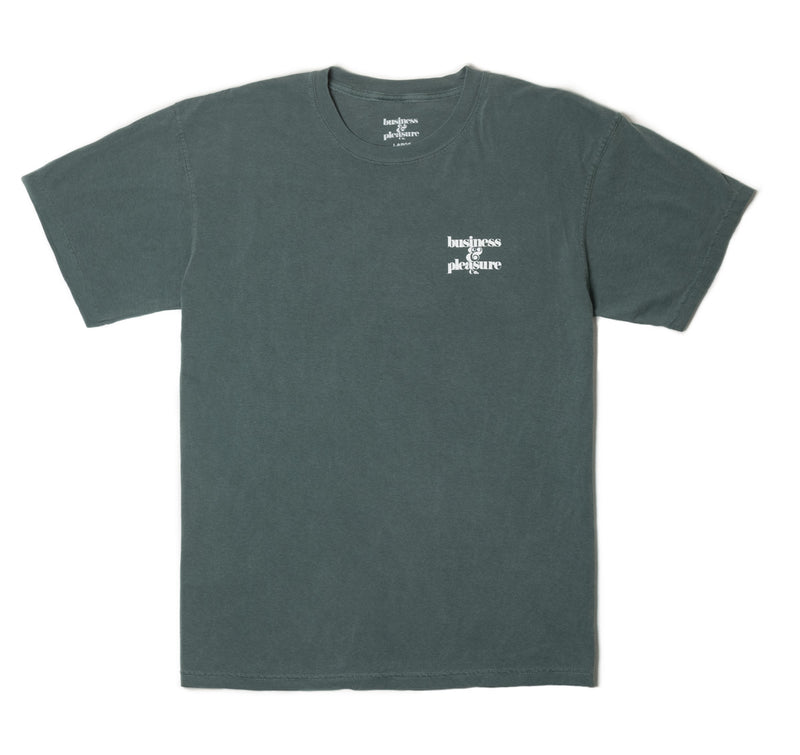 The B&PCO. Tee - Vintage Green - Business & Pleasure Co