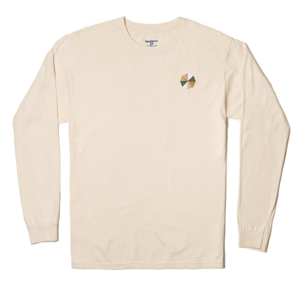 The Cinque Long Sleeve Tee - Antique White - Business & Pleasure Co