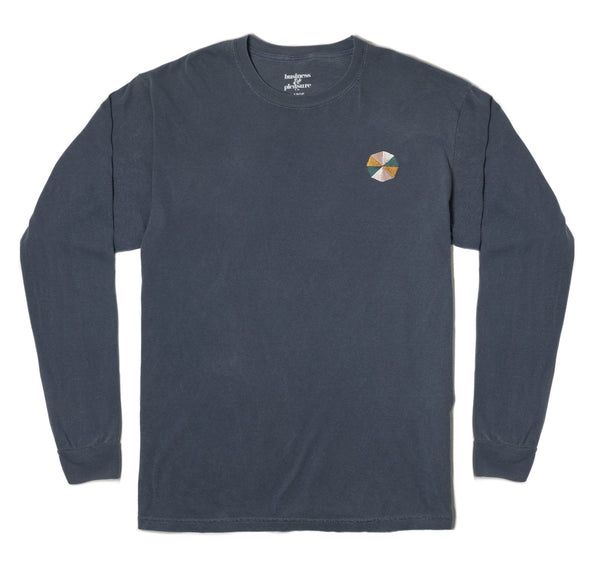 The Cinque Long Sleeve Tee - Lauren's Navy - Business & Pleasure Co