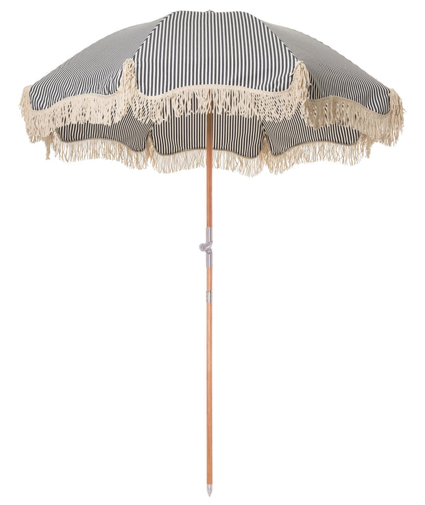 Lauren's Navy Stripe Premium Beach Umbrella - Business & Pleasure Co