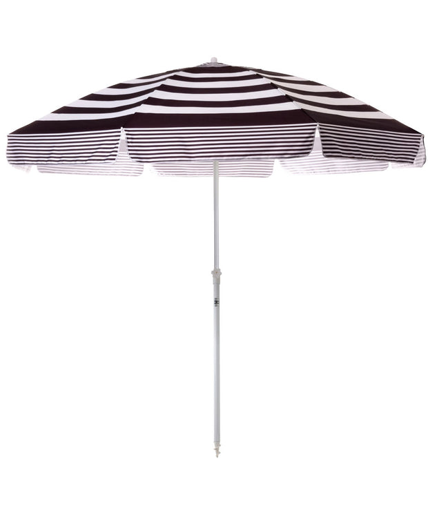 Black Stripe Family XL Beach Umbrella - Business & Pleasure Co