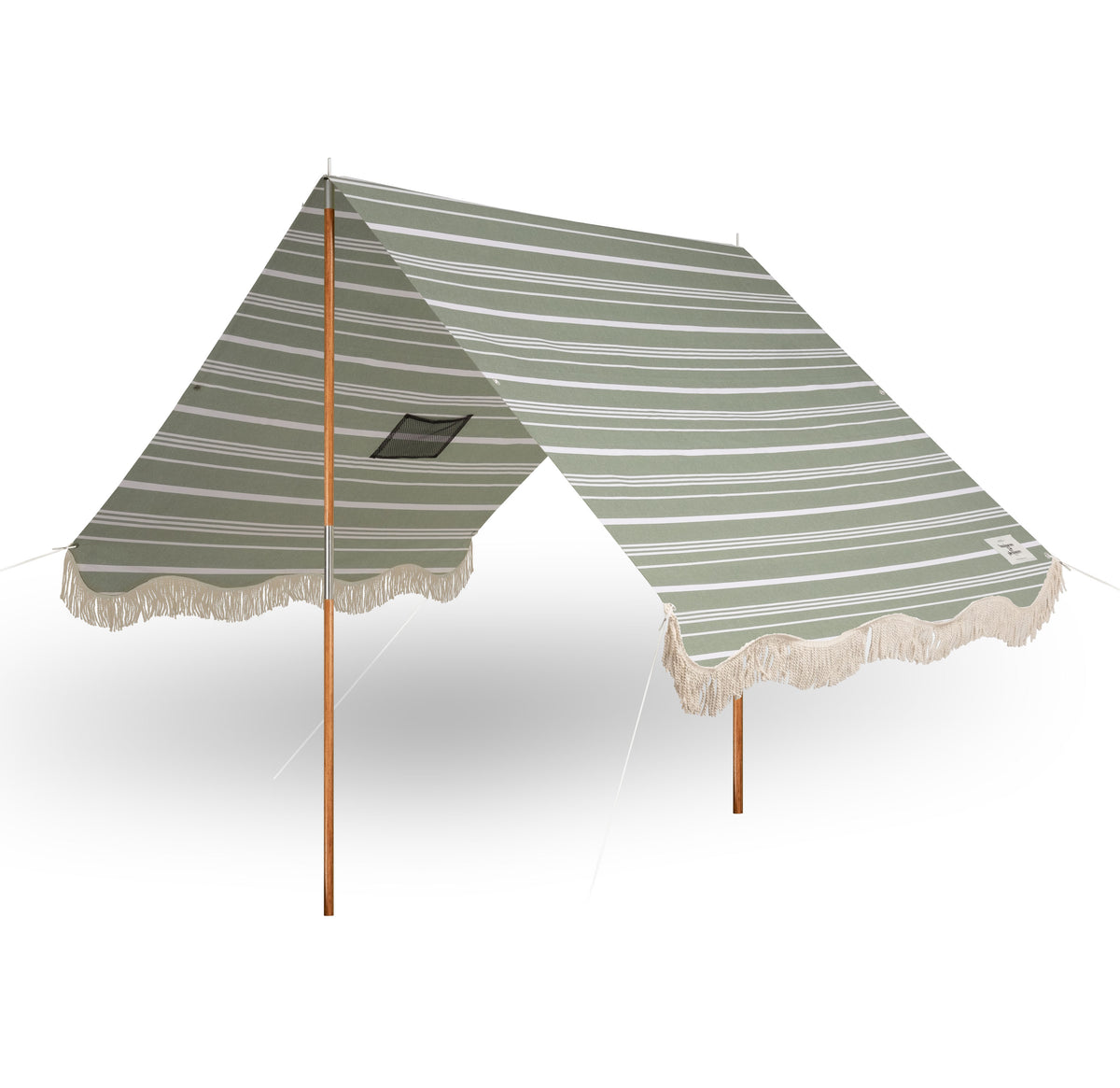 The Premium Beach Tent - Vintage Green Stripe - Business & Pleasure Co