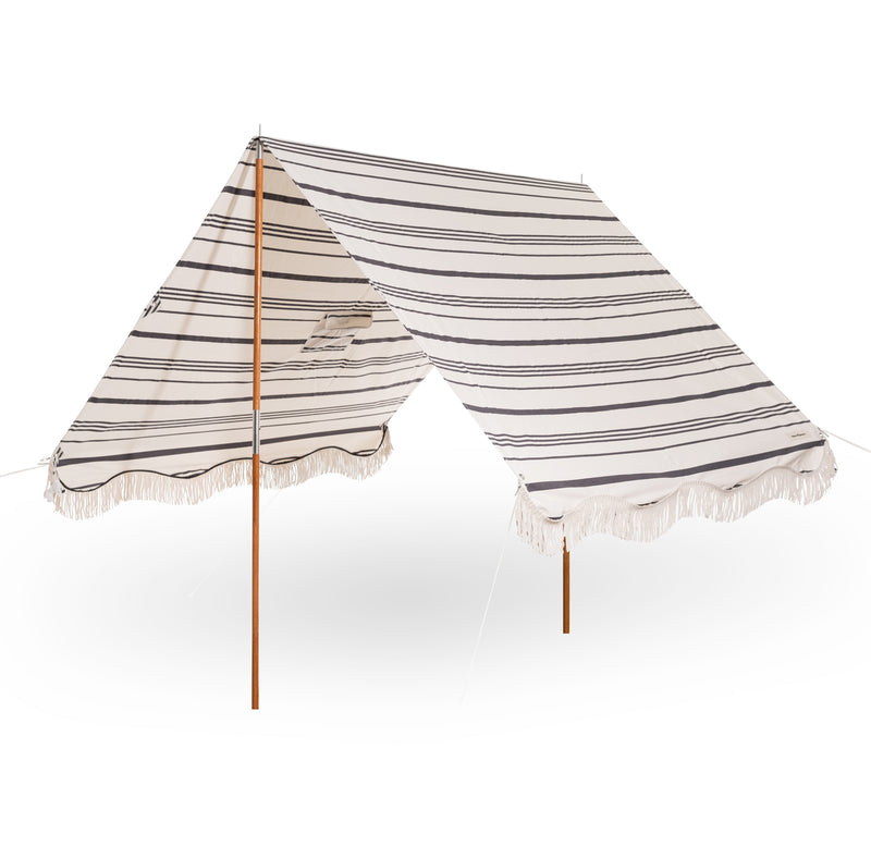The Premium Beach Tent - Vintage Black Stripe - Business & Pleasure Co