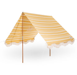 The Premium Beach Tent - Vintage Yellow Stripe - Business & Pleasure Co