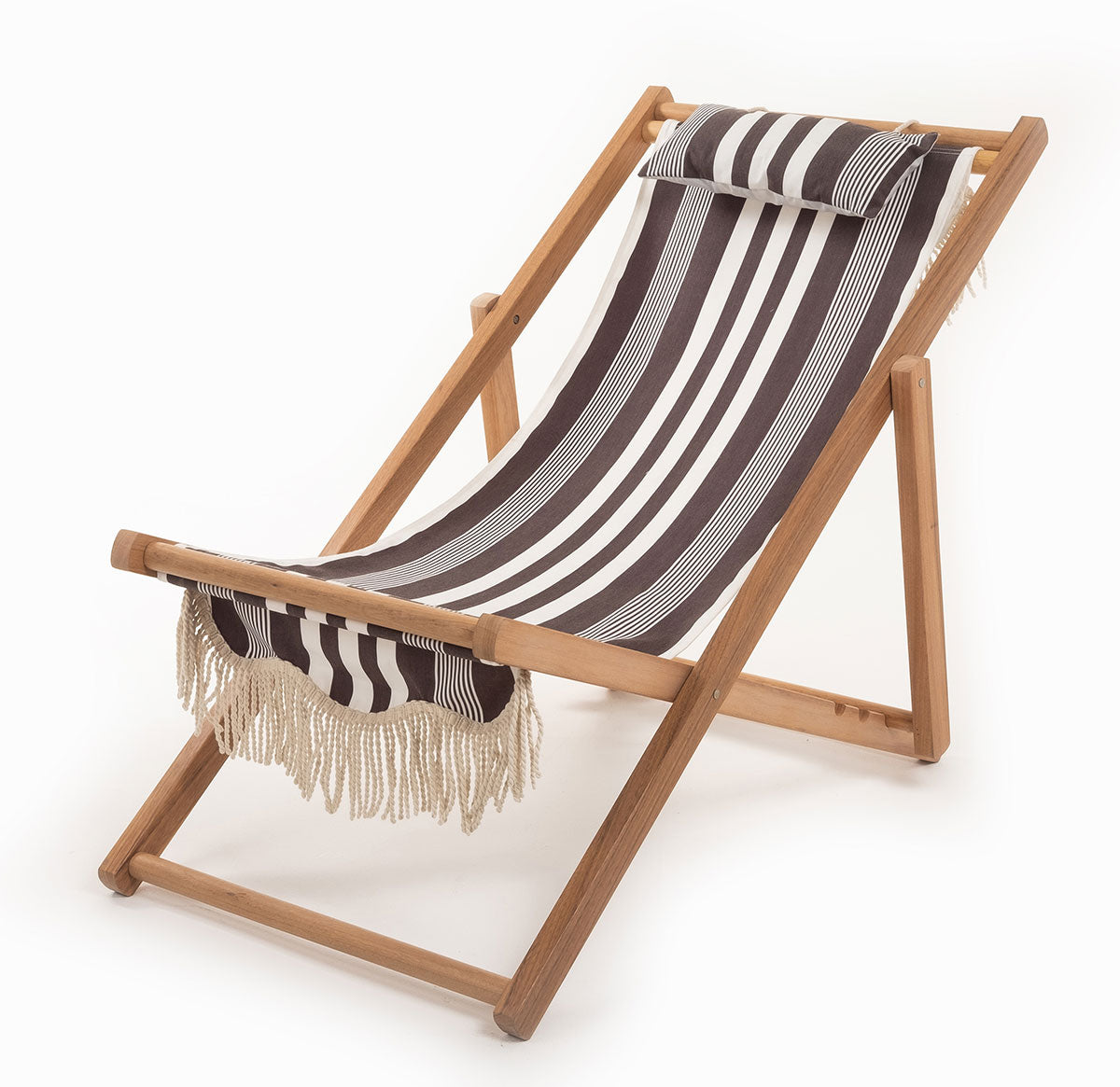 The Sling Chair - Black Riviera Stripe - Business & Pleasure Co