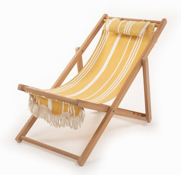 Sling Chair - Yellow Stripe - Business & Pleasure Co