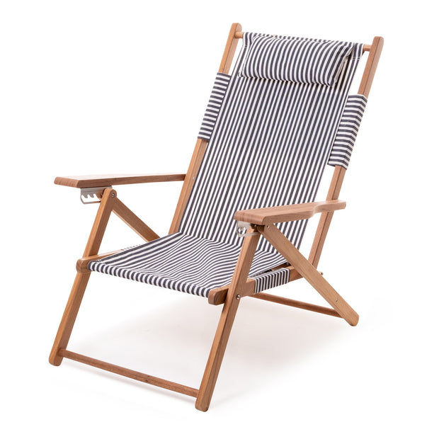 The Tommy Chair - Lauren's Navy Stripe - Business & Pleasure Co