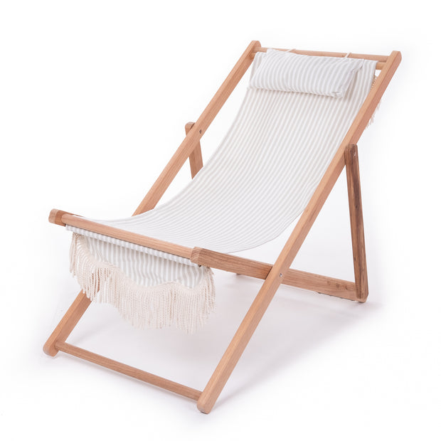 The Sling Chair - Lauren's Sage Stripe - Business & Pleasure Co