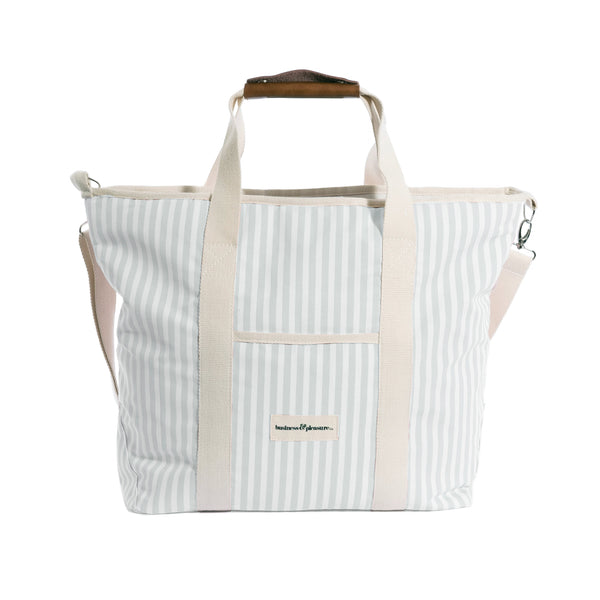 The Cooler Tote Bag - Lauren's Sage Stripe