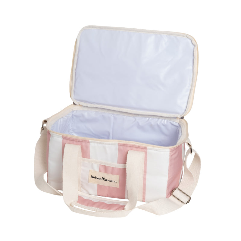 HOLIDAY COOLER BAG - CREW PINK STRIPE