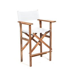 The Directors Chair - Bar Height - Antique White