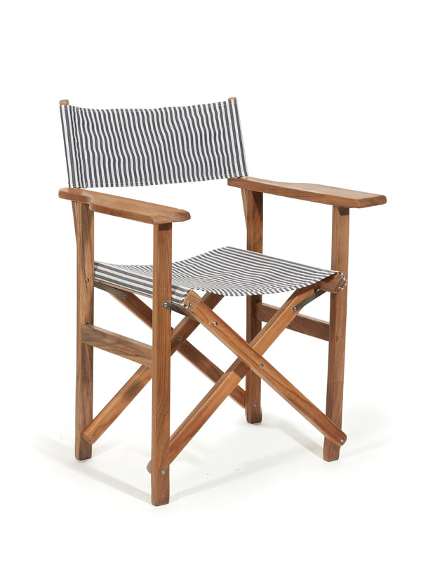 The Directors Chair - Table Height - Lauren's Navy Stripe