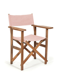 The Directors Chair - Table Height - Lauren's Pink Stripe