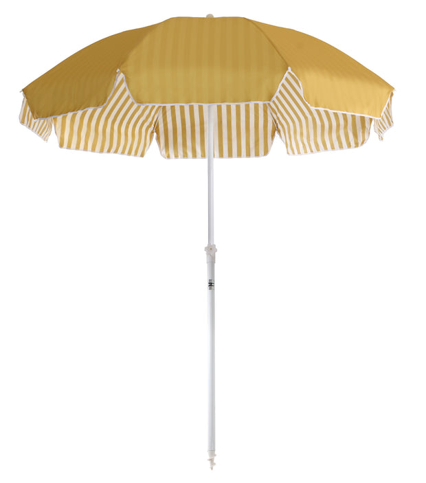 Gold Stripe Family Beach Umbrella - Business & Pleasure Co