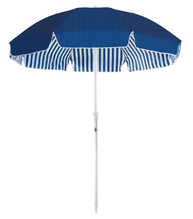 Navy & White Stripe Family Beach Umbrella - Business & Pleasure Co