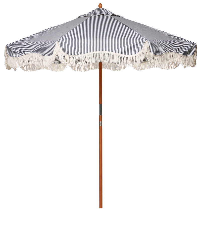 The Market Umbrella - Lauren's Navy Stripe