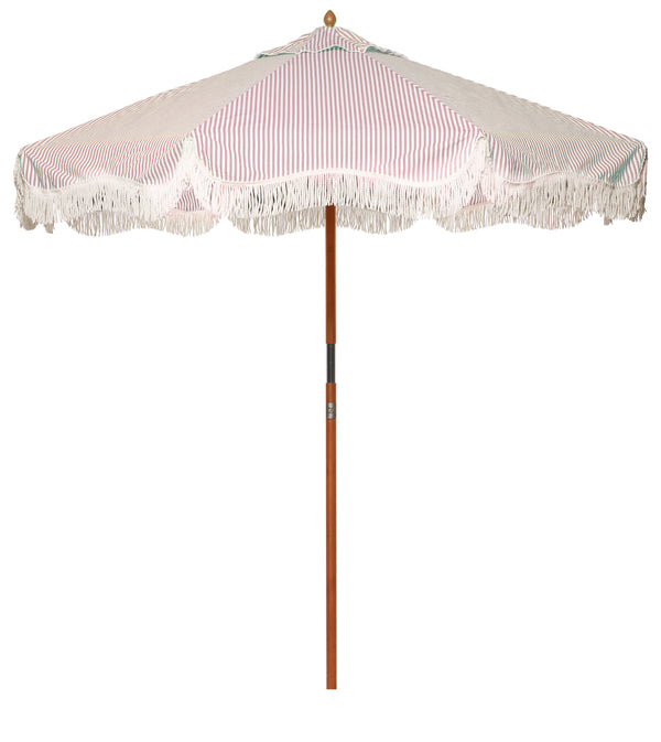 The Market Umbrella - Lauren's Pink Stripe