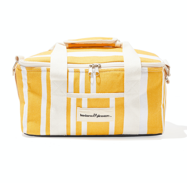The Cooler Bag - Yellow Stripe - Business & Pleasure Co