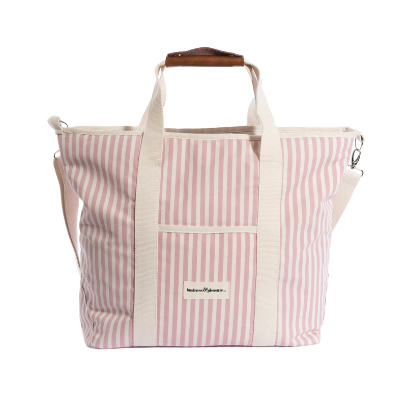 The Cooler Tote Bag - Lauren's Pink Stripe