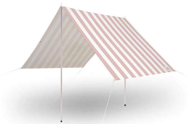 The Holiday Beach Tent - Crew Pink Stripe - Business & Pleasure Co