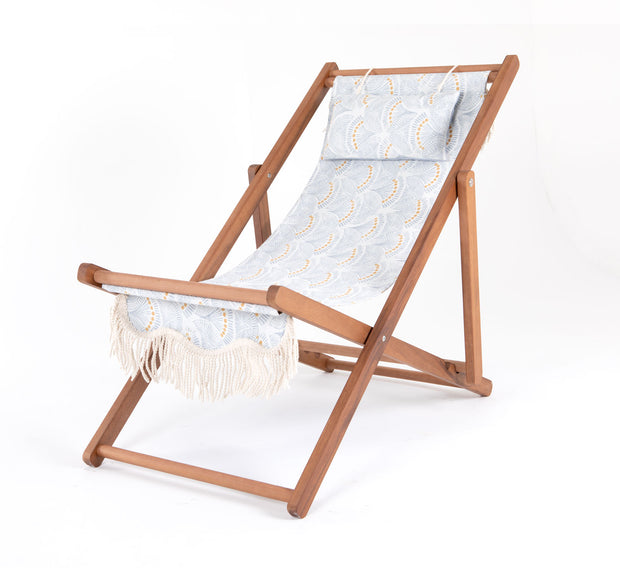 Sling Chair - Slate Block Print - Business & Pleasure Co