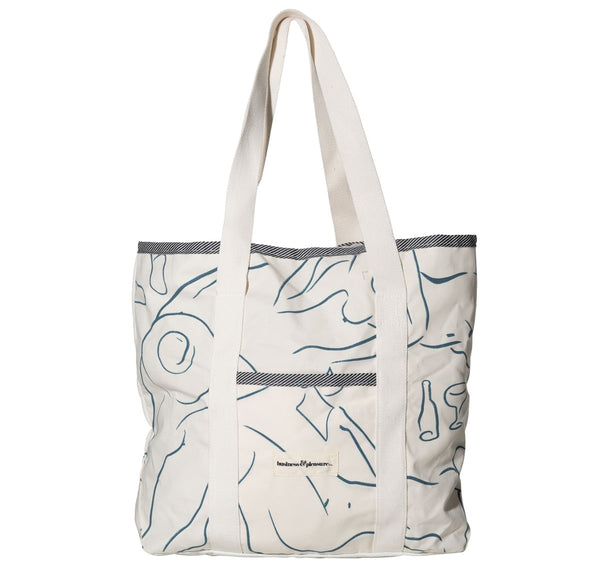 The Beach Bag - Le Basque Print