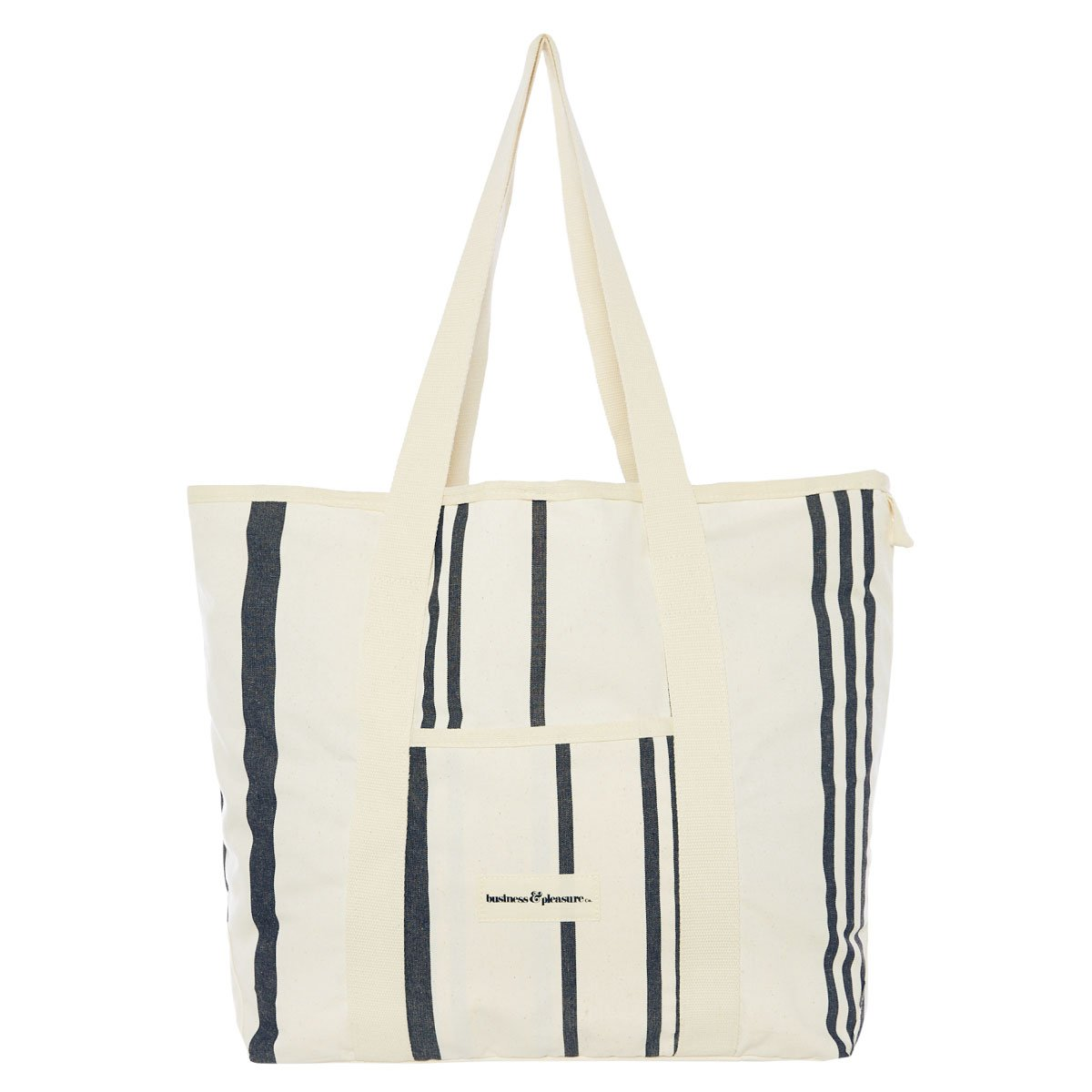 The Beach Bag - Vintage Black Stripe - Business & Pleasure Co