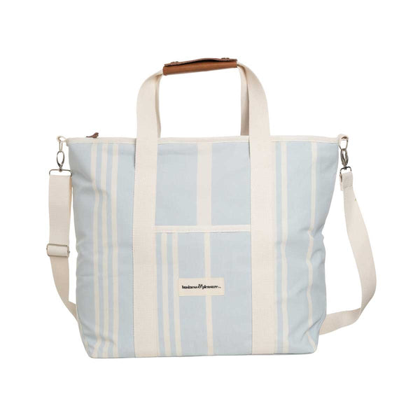 The Cooler Tote Bag - Vintage Blue Stripe