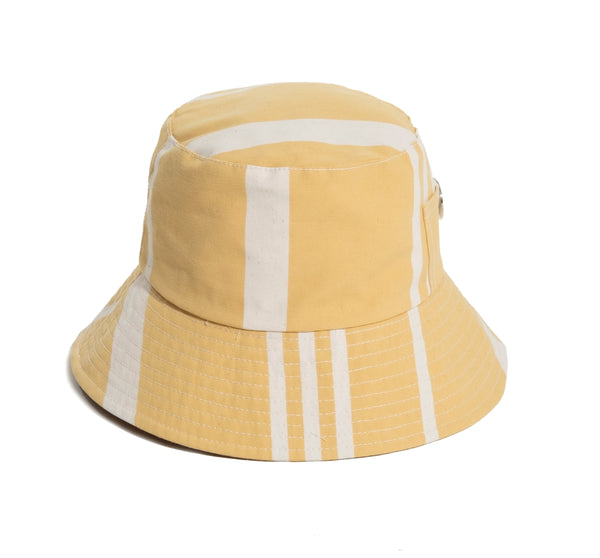 THE BUCKET HAT - VINTAGE YELLOW STRIPE