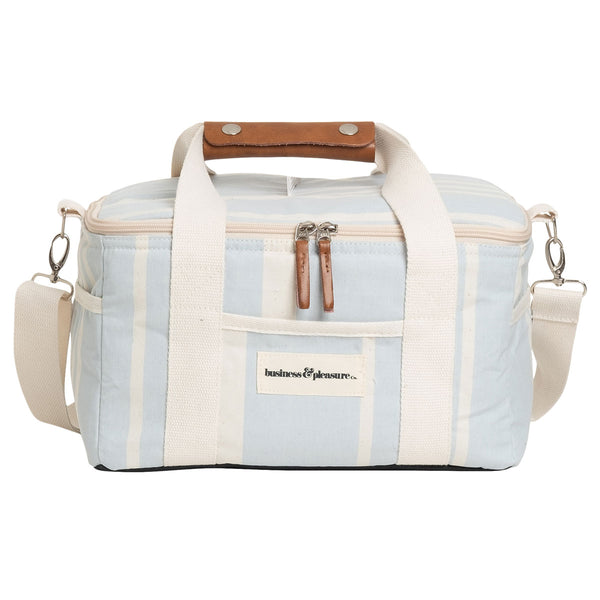 The Premium Cooler Bag - Vintage Blue Stripe