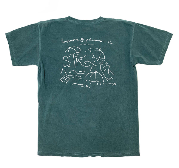 The Basque Tee - Vintage Green - Business & Pleasure Co